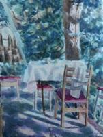 Картина Летний день в саду , Живопись