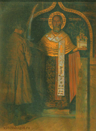 Икона Николы с верховья реки Пинеги