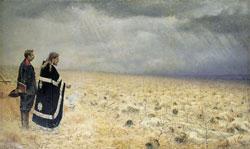 Побежденные. Панихида. (В. Верещагин, 1877—1878 гг.)