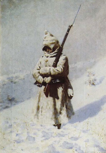 Солдат на снегу (Верещагин В.В.)