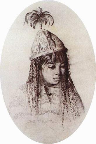 Киргизская девушка (Верещагин В.В.)