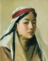 Портрет девушки - бачи. 1867