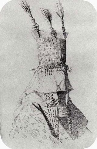 Наряд киргизки-невесты с головным убором