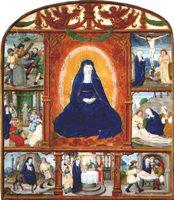 """Иконография """"Cемь Скорбей Девы Марии"""". Неизвестный нидерландский художник, 1511 г"""