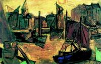 Порт в Остенде (К. Пермеке, 1921 г.)