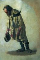 Бурлак с шапкою в руке. 1866