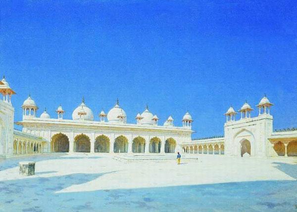 Моти Масджид (Жемчужная мечеть) в Агре