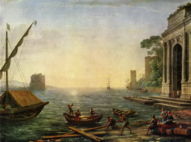 Морская гавань на восходе (К. Лоррен)