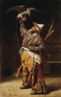 Богатый киргизский охотник с соколом. 1871