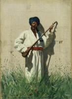 Уличный музыкант. Дутарист. 1870