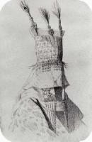 Наряд киргизки-невесты с головным убором, закрывающим лицо. 1869-1870
