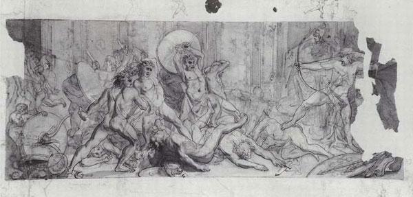 Избиение женихов Пенелопы возвратившимся Улиссом