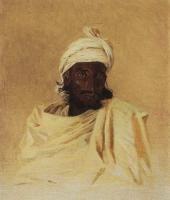 Бхил (Бхилы - одно из горных племен Декана). 1874