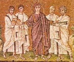 Юноша в гиматии (фреска)