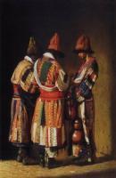 Дервиши в праздничных нарядах во время праздника.1869-1870