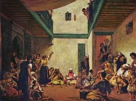 Картина Эжена Делакруа - Еврейская свадьба в Марокко