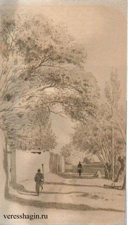 Улица в деревне Ход-жагенте (Верещагин В.В.)